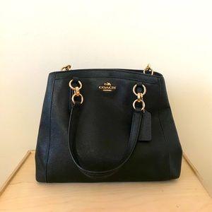 Coach Minneta Black Leather Crossbody Bag